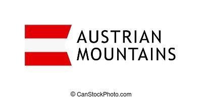 Logotype template for tours to Austrian Alpine Mountains