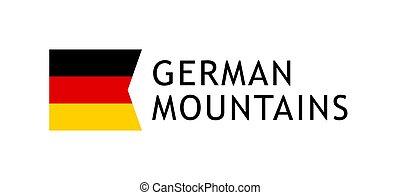Logotype template for tours to German Alpine Mountains