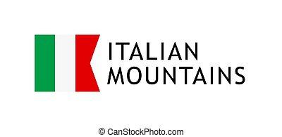 Logotype template for tours to Italian Alpine Mountains,