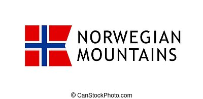 Logotype template for tours to Norwegian Mountains, Vector...