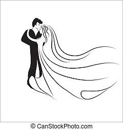 logotype., trouwfeest