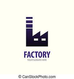 logotype, usine, simple, conception, logo, idée, business, company.