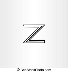 logotype, wektor, czarnoskóry, litera, logo, kreska, z, ikona