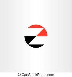 logotype, wektor, czarnoskóry, litera, logo, z, czerwony, ikona