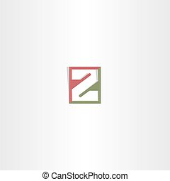 logotype, wektor, litera, logo, z, ikona