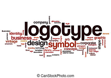 Logotype word cloud