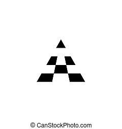 logotype, znak, czarnoskóry, litera, logo, ikona