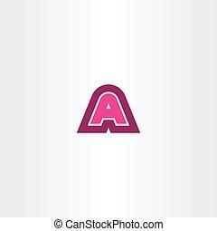 logotype, znak, wektor, litera, logo, magenta, ikona
