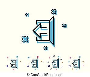 Logout arrow line icon. Sign out. - Logout arrow line icon....