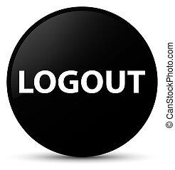Logout black round button