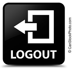 Logout black square button