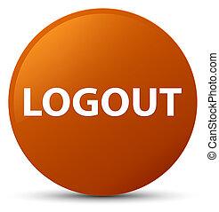 Logout brown round button