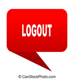 logout bubble red icon
