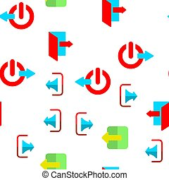 Logout Button Vector Seamless Pattern