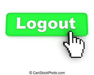 Logout Button with Hand Cursor