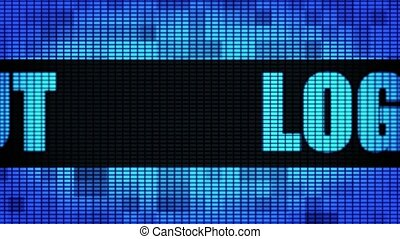 Logout Front Text Scrolling LED Wall Pannel Display Sign...
