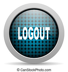 logout glossy icon