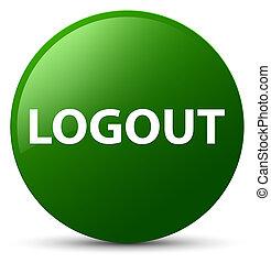Logout green round button