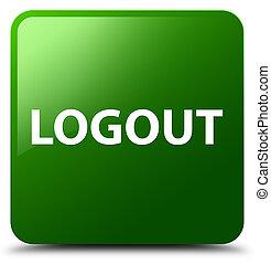 Logout green square button
