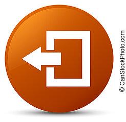 Logout icon brown round button