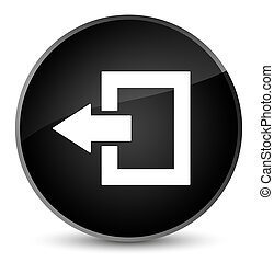 Logout icon elegant black round button