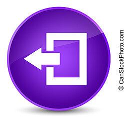 Logout icon elegant purple round button