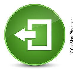 Logout icon elegant soft green round button