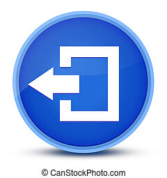 Logout icon isolated on special blue round button abstract