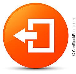 Logout icon orange round button