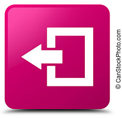 Logout icon pink square button
