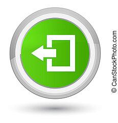 Logout icon prime soft green round button
