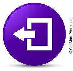 Logout icon purple round button