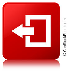 Logout icon red square button