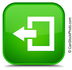 Logout icon special green square button