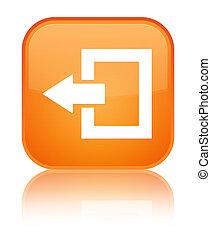 Logout icon special orange square button