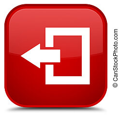 Logout icon special red square button