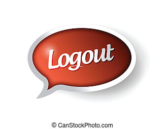 logout message communication bubble