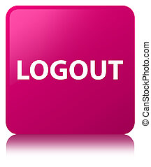 Logout pink square button