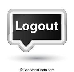 Logout prime black banner button