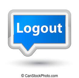 Logout prime cyan blue banner button