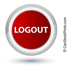 Logout prime red round button
