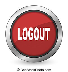 logout red icon