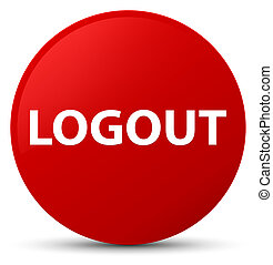 Logout red round button