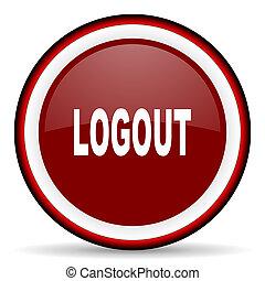 logout round glossy icon, modern design web element