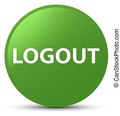 Logout soft green round button
