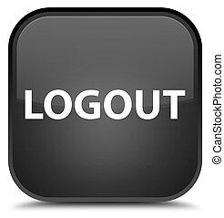 Logout special black square button
