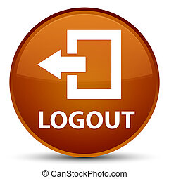 Logout special brown round button