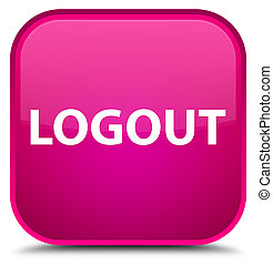 Logout special pink square button