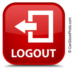 Logout special red square button