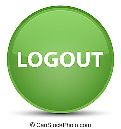 Logout special soft green round button
